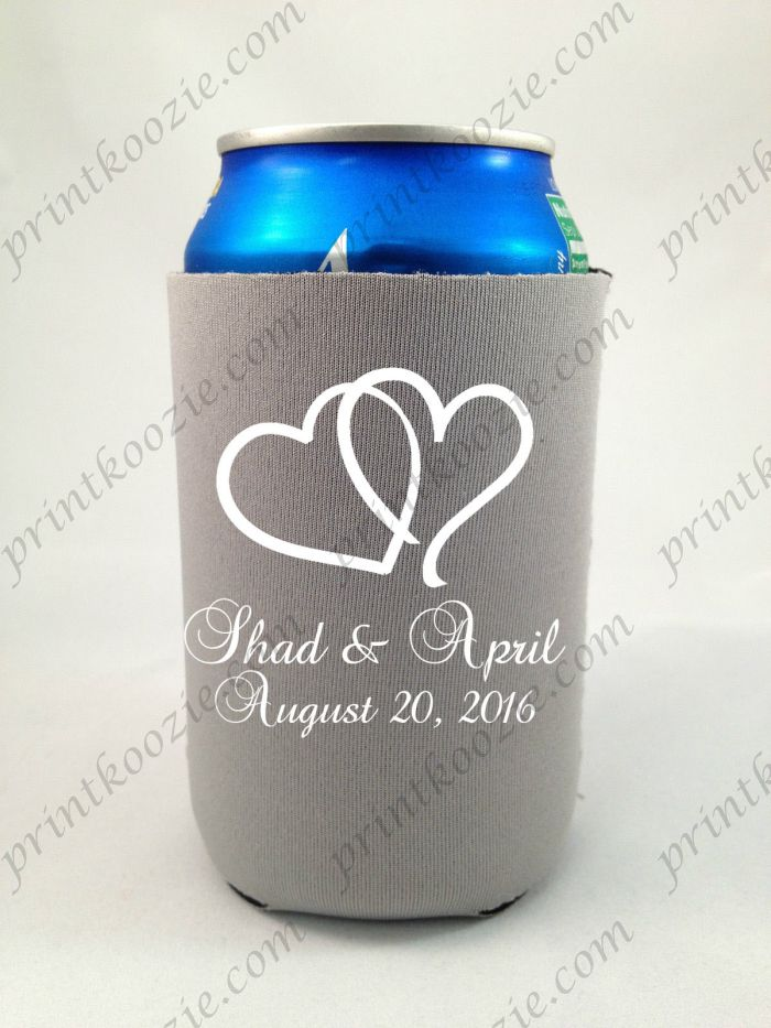 Wedding Koozies Can Koozie Custom Beer