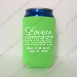 printed custom koozie wedding n