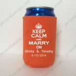 wedding favor koozie drink kooz