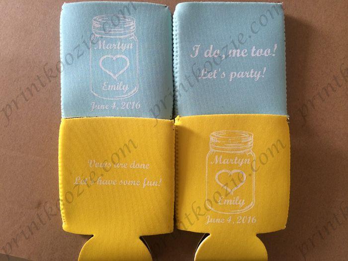 wedding personalized can koozie neoprene beer koozies bag