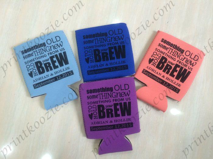 Custom Beer Koozie Wedding Souvenir Printing Can Holders